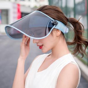 Sun ajustable Verano Anti-ultravioleta del sombrero del jinete de la cara de blindaje Vacío a prueba de sol al aire libre sombrero para el sol sombrero de copa del coche eléctrico