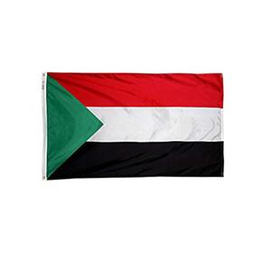 3x5ft kundenspezifischer Sudan Flag Günstige Preis Digital gedruckte Polyester Werbung Outdoor Indoor, Die beliebtesten Flagge, freies Verschiffen
