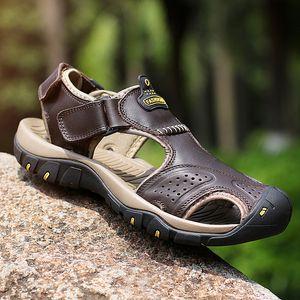 2020 Summer Roman Beach Sandals Non-slip Genuine Leather Men Sandals Breathable Men Casual Shoes Sandalias De Hombre De Cuero