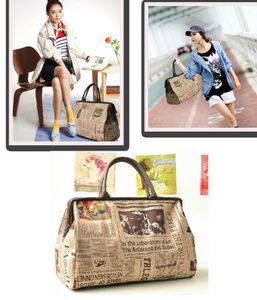 Yeni Hobo Bag Moda Retro Kadınlar deri Bez Çanta Omuz Çantası / çanta Satchel Vintage Stil