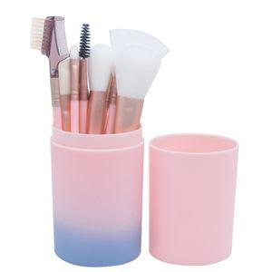 Kits de pinceaux cosmétiques avec pinceau 12pcs / set de maquillage multifonctions de base de poudre d'ombre à paupière de sourcil de cils avec le baril de brosse 12Pcs / set RRA1089
