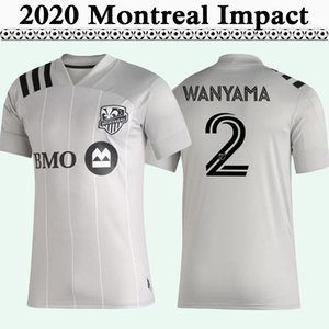 2020 2021 Wanyama PIETTE Futbol Formalar Yeni Montreal Impact RAIDER'da Urruti Mens Deplasman Gri Futbol Gömlek Kısa Kollu Yetişkin Üniformalar Jersey