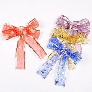 New1PC Xmas Tree Bowknot Pendant Christmas Bows Snowflake Bow Drop Ornaments Wedding Party Holiday DIY Decorations