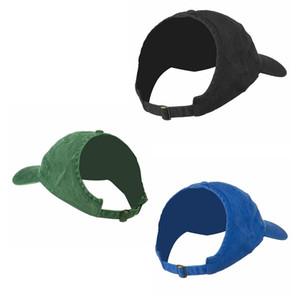 Kreative halb leer Zylinderhut Causal Pferdeschwanz Baseballmütze im Freien Weibliche Sonnenschutz- Snapback Breathable Hat TTA-1048