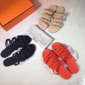 Hermes slippers 2020 xshfbcl Designer gomma pantofole donne sandali Rivage Chaine d'Ancre gelatina Sandali diapositive piatto flip scarpe da sposa Flops Pantofole partito