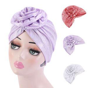 Cap Hat indiana Copricapo Beanie musulmano interno Hijabs Bandana Donne floreale Turbante Pearlescent lucido Beanie Chemo Cancro Cap Hijabs
