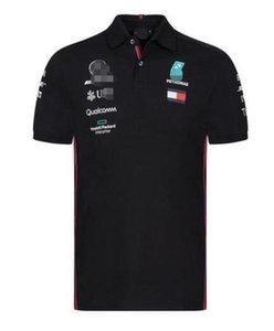 2020 폭발 F1 메르세데스 - 벤츠 2020 반소매 폴로 셔츠 옷깃 T 셔츠 팀 정장 경주 정장