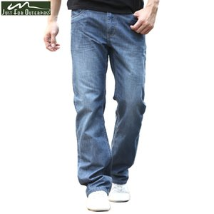 2019 New Summer Brand Jeans Hombres Moda Casual Loose Jeans Straight Breathable Elastic Comfortable Wide Leg Pants Plus Size SH190828