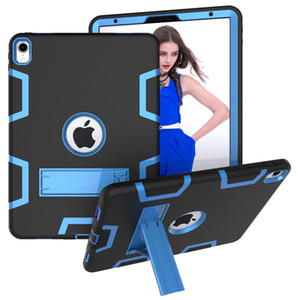 3 in 1 TPU PC Hybrid Robot Armor Shockproof Kickstand Stand Case For iPad 2 3 4 5 6 Air Pro 10.5 11 9.7 2017 2018 Mini Mini5