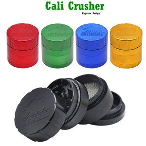 Cali Crusher Homegrown 4 Stück Grinder Aluminium-Legierung Smoking Herb Grinders 53MM Metall Tabak Herbal Hand Muller Tabakpfeifen Zubehör