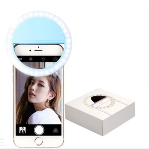 RK12 Rechargeable Selfie Ring Light with LED Camera Photography Flash Light Up Selfie Luminous Ring with USB Cable Universal for All Phones
