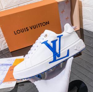 luxurydesigner NEW пара случайных кроссовки высокого класса кожи на шнуровке белые кроссовки 3D набивным рисунком спорт белый обувь