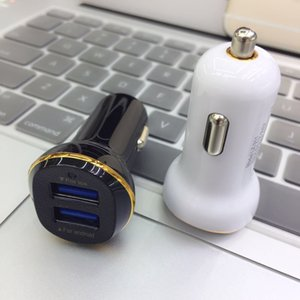 dual usb car charger 5V1A 5V2.1A fast charger dock adapter power adapter car charger for samsung s4 s5 s6 s7 s8 plus iphone x fast shipping