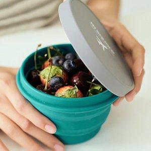 Tasses pliantes portables Capacité de grande capacité Silicone Bol Food Grade Silicone Colapignes Portable Bols Voyage Activités de plein air VT1345