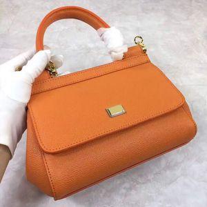 Diseñador- 20CM Miss Sicilia Mini Bolsa con estampado de palma piel de becerro multicolor Bolso de moda Bolso Messenger