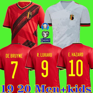 2019 2020 Belgium футбольные майки 19 20 home red E. HAZARD R. LUKAKU DE BRUYNE KOPANMY maillot de foot мужчины + дети униформа
