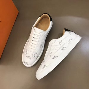 2020 New H Sneakers Top Cowhide Fashion Men Comfortable Casual Flat Shoes high shoes RD kj01