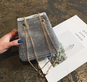 Bucket Bag Female Messenger Small Bag 2020 New Fashion Wild Atmosphere Tide Korean Version of The Bright Diamond Chain Bag Best Selling