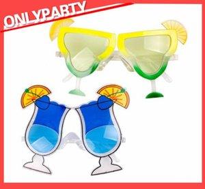 Lemon óculos cerveja óculos de sol presentes óculos Hawaiian Beach Cálice Cálice Vidros Vidros Plásticos Espíritos de Vidro Hawaiian Sunshade Brinquedo Hot Wmvsw