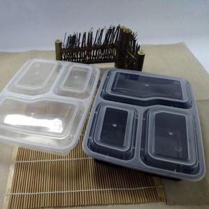 Утолщенные одноразовые коробки для завтрака Экологичный пластик Бенто Коробка для завтрака для микроволновой печи Контейнер для разогрева еды на вынос 112 1wr ZZ