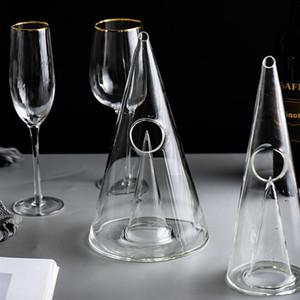 Kreative Pyramide Kristallglas Weinkaraffe 350ml / 750ml Crystal Red Wine Decanter Handgemachtes für Weinbrand Whisky Bar Werkzeuge