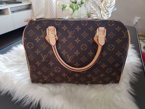 Sıcak Satış Kadın haberci çanta Klasik Stil Moda çanta kadın çantası omuz çantaları Lady Totes 5850 Speedy 30cm Toz Bag handbags