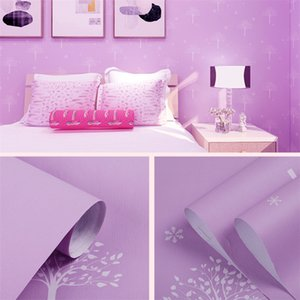 New Cross-Border Princess Room Pink Bedroom TV Background Wall Nordic Modern Self-Adhesive Wallpaper Wall Sticker