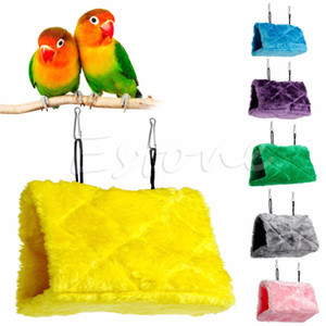 Cheap Bird Toys Bird Parrot Plush Hammock Cage Snuggle Happy Hut Tent Bed Bunk Toy Hanging Cave -Y102
