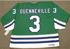 las mujeres de Hombres jóvenes Vintage # 3 Joel Quenneville Hartford Balleneros 1988 CCM Hockey Jersey del tamaño S-5XL o costumbre cualquier nombre o un número