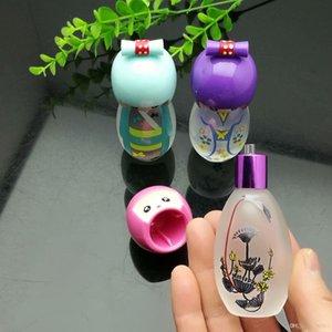 Carino Porcelain Doll vetro Vetro alcool lampada tubi di acqua narghilè Maniglia pipe trasporto libero di alta qualità