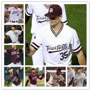 College 2020 Texas A&M Aggies Ray Alejo Logan Sartori Zach DeLoach Colson Geisler Asa Lacy Baseball Men Jersey 4XL