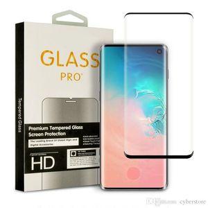 Écran en verre trempé protecteur courbé Film 3D Cas convivial pour Samsung Galaxy Note 10 S10 S10E S9 S8 plus S7 bord