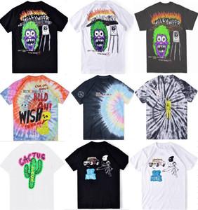 hot selling Travis Scott Astroworld Festival Run Tie Dye Tee Men Women Summer Cotton T-shirt Skateboard Casual Short Sleeves tee more styles