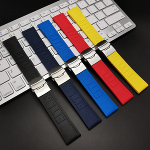 Black Yellow Red Dark Blue Silicone Rubber Watch band 22mm 24mm Watchband Bracelet For navitimer avenger Breitling strap tools