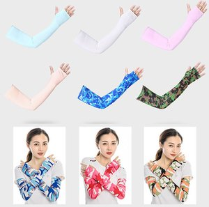 Wholesale New Summer Fashion Sleeves Riding UV Care Cycling Sun-proof Arm Protection Sports Outdoors Glove for Men Women Free Shipping