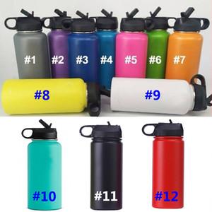 Caneca de viagem de vácuo garrafa de água garrafa isolados 304 de água de aço inoxidável de boca larga Beber Cup com tampas 18 oz / 32 oz / 40 oz WX9-721