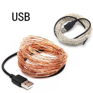5V USB LED String Licht 2m 5m 10m 20m Kupfer Silber Draht Wasserdichte Fee Weihnachtsbeleuchtung Für Hochzeit Party Urlaub Dekoration