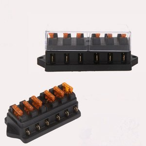 The fuse Universal Car Truck Vehicle 6 Way Circuit Automotive Middle-sized Blade Fuse Box Block Holder EEA278