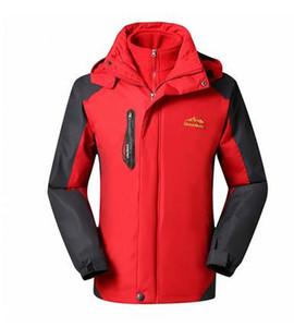Giacca invernale da uomo caldo, impermeabile, traspirante, più giacca con cappuccio in velluto. Capispalla