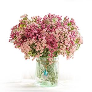 PU Gypsophila Çiçek Gerçek Dokunmatik Yapay Gypsophila 135 Mini Çiçek Başkanları Düğün Doğum DIY Gypsophila Oturma odası Dekor