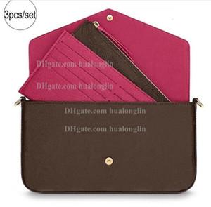 Bolso de la mujer original, fecha de la caja del bolso cosmético código verificado Monedero del bolso del mensajero de la manera cruzada cuerpo flor