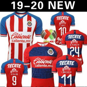 A.PULIDO 19 20 Guadalajara de Chivas Heimtrikot O.PERALTA 2019 2020 Mexiko Club Chivas Auswärtstrikot O. PINEDA Maillot de foot shirt