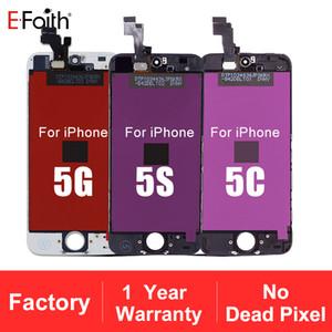 Tianma Glass Bestnote LCD Display Touchscreen Digitizer Vollversammlung für iPhone 5G / 5S / 5C / SE Ersatz Ersatzteile Freies Verschiffen