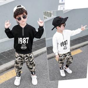 2020 NEW лето Мальчики Hip Hop Одежда Sets Танцы Детская одежда Дети Короткие Два Piece Set Harem Капри Установить размер 3-14T