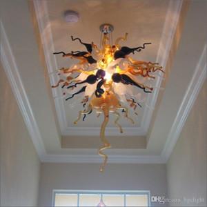 Весна Стиль Art Простой Дизайн выдувное стекло LED Люстра High Потолочные люстры Декоративное искусство стекла Чихули Стиль