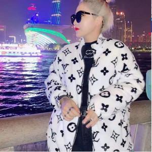 Kadınlar erkek Serin Mercan Pamuk kadife sevimli çift winte fermuar Triko yeni kürk Triko Coat moda Marka Gevşek yumuşak pazen Harf Isınma ins