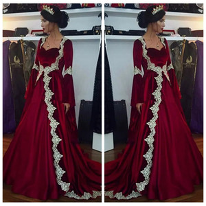Sweetheart A-Line Long Sleeves 2019 Evening Dresses Lace Appliques Modest Special Occasion Party Gowns Cheap Middle East Vestidos De Prom