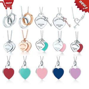 regalo stili multipli a forma di cuore Argento 925 collana in festa di nozze gioielli donna collana di lusso anniversario della donna di scegliere