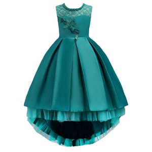 Girl Flower Dress Children Wedding Party Dresses 3-14 Years Kid Lace Dress Princess Clothes Girls Evening Birthday Gift