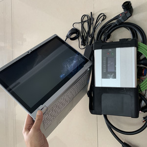 2019.03v Herramienta de diagnóstico HHT MB Star C5 SD Conecte con la computadora portátil cf-ax2 i5 8g Diagnóstico para Mercedes Mb Star C5